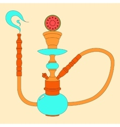 Hookah color with fruit vector