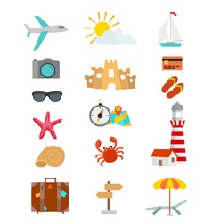 Tourism objects vector