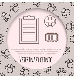 Veterinary pet health care animal medicine icons vector