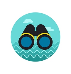 Binoculars icon summer marine vector