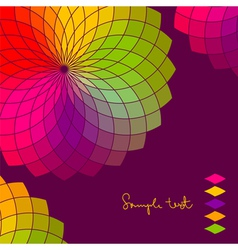 abstract background with color flower wheel vector image vector image