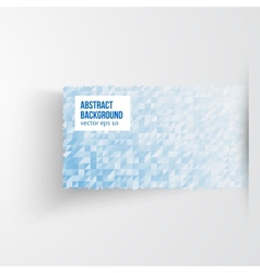 Abstract banners triangle white and blue vector image