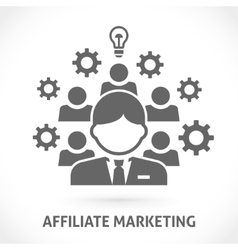 Affiliate network marketing vector image