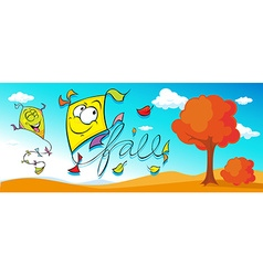 Autumn Cartoon Banner vector image
