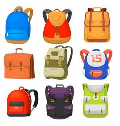 back to school kids school backpack vector image vector image