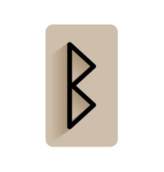 berkano runic alphabet and letters flat icon on vector image