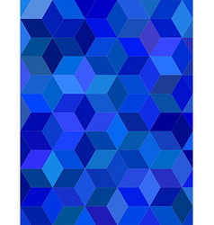 Blue color 3d cube mosaic background design vector