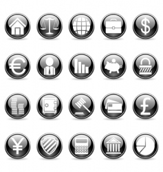 business and finance buttons vector image vector image