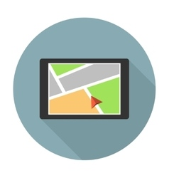 Car navigation device vector image vector image