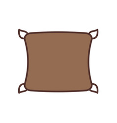 Comfortable pillow cushion bedroom cloth vector