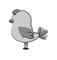 cute bird decorative card vector image vector image