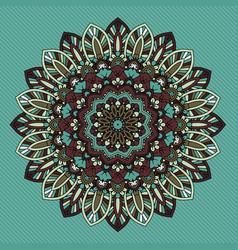 decorative retro styled mandala design vector image vector image