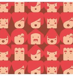 funny faces pattern vector image