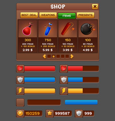Game gui pack vector