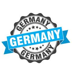 Germany round ribbon seal vector
