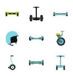 Gyroscooter icon set flat style vector
