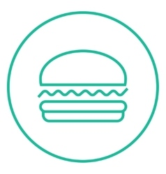 Hamburger line icon vector