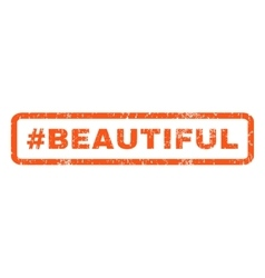 Hashtag Beautiful Rubber Stamp vector image