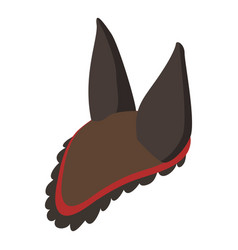 horse hat icon isometric style vector image vector image
