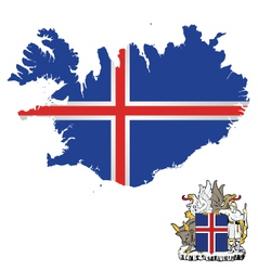 Iceland Flag vector image