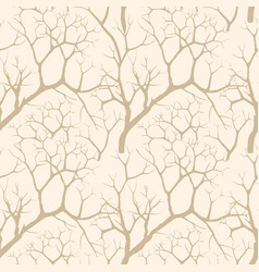 Nature seamless pattern winter forest background vector