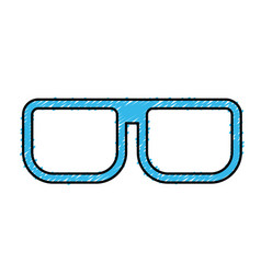 Nice glasses accessory to can see vector