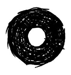 O - hand drawn character sketch font vector image vector image