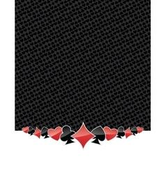 Poker suits gambling background vector
