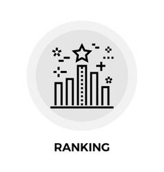 Ranking line icon vector