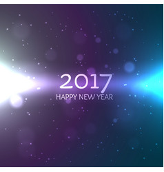 Shiny 2017 happy new year design background with vector
