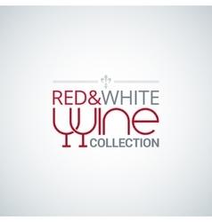 wine glass label design background vector image vector image