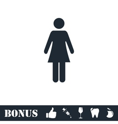 Woman icon flat vector image
