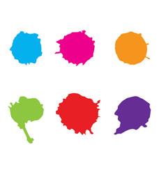 Colorful paint splatterspaint splashes set vector
