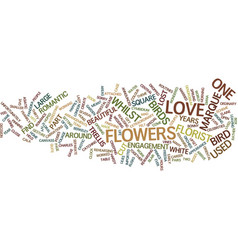 Floral engagement and lost love birds text vector
