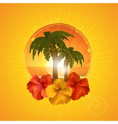 Tropical border background vector image