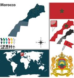 Morocco map world vector image