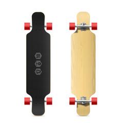 Longboard skateboard vector