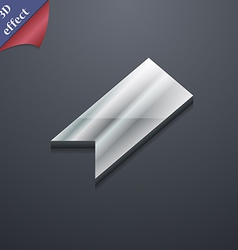 Bookmark icon symbol 3d style trendy modern design vector