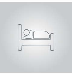 Hotel single icon vector