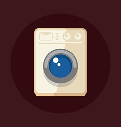 Modern washing machine vector