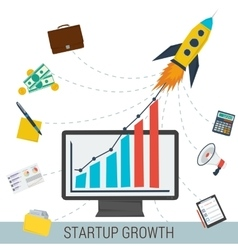 Startup growth concept vector