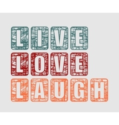 Live laugh love greeting card template vector