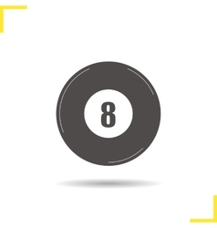 Billiard eight ball icon vector
