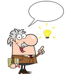 Happy Professor Talking About A Bright Idea vector image