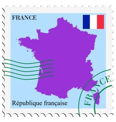 Mail to-from france vector