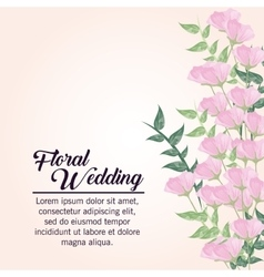 Painting flower icon floral wedding design vector