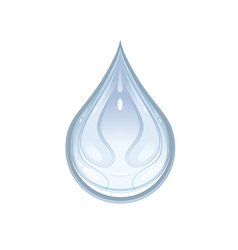 a water drop vector image