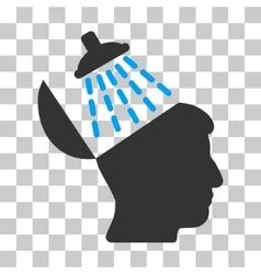 Brain washing icon vector