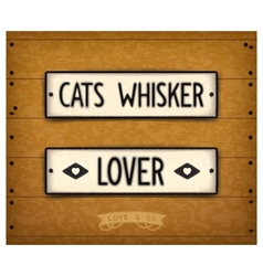 Cats whisker vector