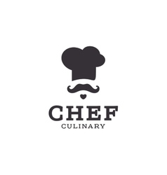 chef cook logo icon toque chefs hat trend vector image